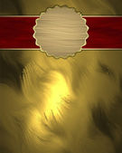 Gold Background with red nameplate and the Golden Circle. — Photo