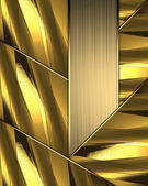 Wicker texture of golden plates with gold plate. — Stock Photo