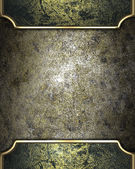 Design template - Old iron background with antique gold edges. — Stock Photo