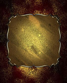 Red-golden background with golden nameplate and gold trim — Стоковое фото