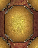 Red-golden background with golden nameplate and gold trim — Photo