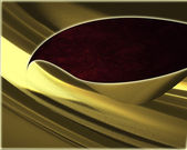 Abstract golden background with red cutout — Stock Photo