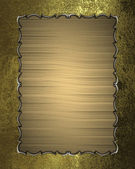 Golden texture in golden frame with pattern — Stok fotoğraf