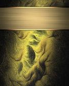 Abstract dark-goud textuur met gouden plaat voor schrijven — Stockfoto