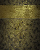 Dark yellow texture with golden ribbons (nameplate) — Stockfoto