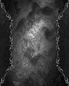 železo textury s černým okrajem s květinovým vzorem — Stock fotografie