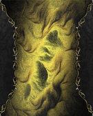 Streszczenie tekstura złoty z czarne brzegi kwiatowy wzór — Zdjęcie stockowe