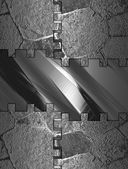 Abstract Iron background with abstract iron plate — Stock Photo