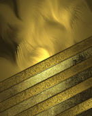 Abstract gold background with golden plates — Stock Photo