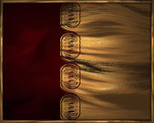 Red background with gold pattern — Stock Photo