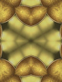 Abstract yellow background with gold inserts — Stock Photo
