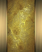 Grunge gold background with a gold plated for the writing — Stock Photo