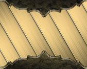 Zlaté pozadí kapel s krásné zlacené okraje — Stock fotografie