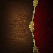 Tekstura brązowy i czerwony tekstury wzorzyste złoty paskiem — Zdjęcie stockowe
