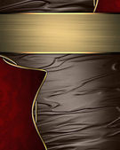 Abstract brown texture with red inlays with gold trim — Stock Photo
