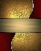 Abstract yellow texture with red inlays with gold trim — Stock Photo
