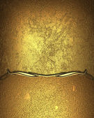 Golden background with gold edged with gold trim — Stock Photo