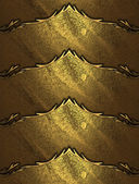 Grunge gold background with an abstract nameplate with beautiful finish — Stock Photo