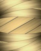Trama di strisce gialle con nastri d'oro sui bordi. layout per la scrittura del testo — Foto Stock