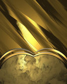 Abstract gold background with gold trim — Stock Photo