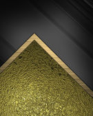 Abstract background (substrate) for writing text with gold and black fabric — Stock Photo