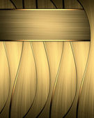 Abstract gold striped background with gold trim — Stock Photo