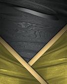Fondo negro con bordes de oro. diseño de plantillas. plantilla para escribir el texto. sitio web de plantilla — Foto de Stock