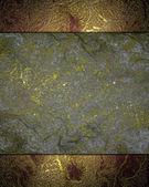 Texture grunge astratto oro con targhetta grigio. — Foto Stock