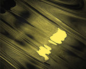 Abstract yellow background with wavy black backing. — Stock Photo