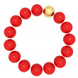 Red balls and gold ball — Stock Photo #38743701