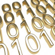 Gold Binary Code — Stock Photo