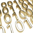 Gold Binary Code — Stockfoto