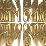Gold Binary Code — Zdjęcie stockowe