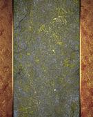 Sfondo grunge grigia d'oro con bordi rossi — Foto Stock