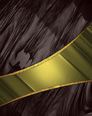 Brown background with elegant gold stripe for text. — Stock Photo
