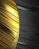 Black background with elegant gold plate. — Stock Photo