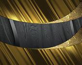 élégant fond or avec la plaque noire. élément de design. modèle de conception — Photo