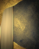 Template for writing. Background of dark and gold elements — Stock Photo