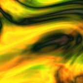 Abstract yellow green curves background — Stock Photo