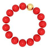 Red balls and gold ball — Stock Photo