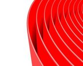 Background bright and glossy made of abstract plastic red circles — Stock Photo