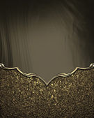 Brown and gold background with gold pattern — Photo