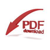 Pdf file download illustration — Stockfoto