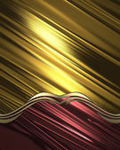 Template for design. Golden abstract background with red edge — Photo