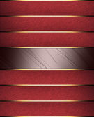 Red background with a red ribbons with gold trim — Stock Photo