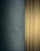 Grunge background with gold ribbons on edge — Stock Photo