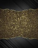 Altın trim izole üzerinde beyaz arka plan ile siyah kenarlar — Stok fotoğraf