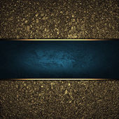 Background of golden sand with the blue plate. Design template — Стоковое фото