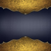 Old wooden background with gold frayed edges — Stock Photo
