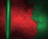 Trasiga röd bakgrund med ett grönt band. formgivningsmall — Stockfoto